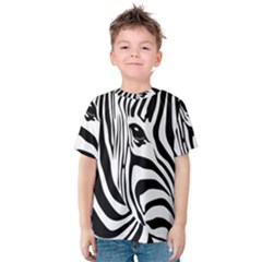 Animal Cute Pattern Art Zebra Kids  Cotton Tee