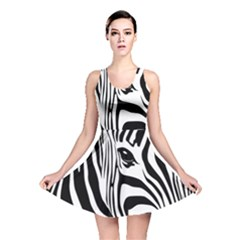 Animal Cute Pattern Art Zebra Reversible Skater Dress