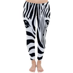 Animal Cute Pattern Art Zebra Classic Winter Leggings