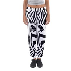 Animal Cute Pattern Art Zebra Women s Jogger Sweatpants