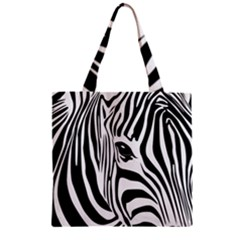 Animal Cute Pattern Art Zebra Zipper Grocery Tote Bag