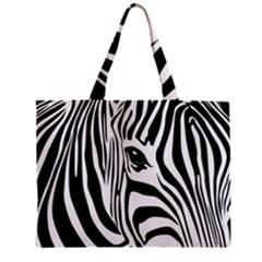 Animal Cute Pattern Art Zebra Zipper Mini Tote Bag