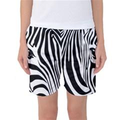 Animal Cute Pattern Art Zebra Women s Basketball Shorts