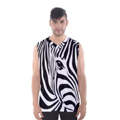 Animal Cute Pattern Art Zebra Men s Basketball Tank Top