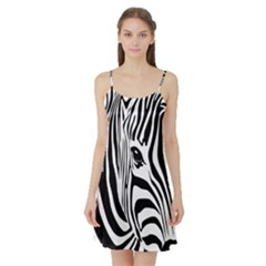 Animal Cute Pattern Art Zebra Satin Night Slip