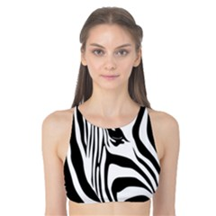 Animal Cute Pattern Art Zebra Tank Bikini Top