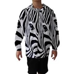 Animal Cute Pattern Art Zebra Hooded Wind Breaker (kids)