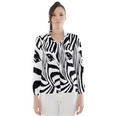 Animal Cute Pattern Art Zebra Wind Breaker (women)