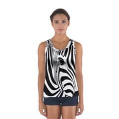 Animal Cute Pattern Art Zebra Women s Sport Tank Top