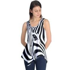 Animal Cute Pattern Art Zebra Sleeveless Tunic
