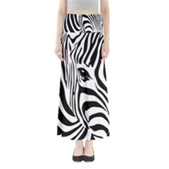 Animal Cute Pattern Art Zebra Maxi Skirts