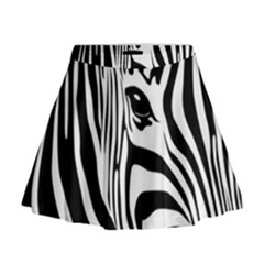 Animal Cute Pattern Art Zebra Mini Flare Skirt
