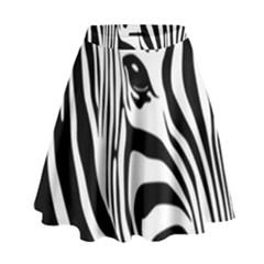 Animal Cute Pattern Art Zebra High Waist Skirt
