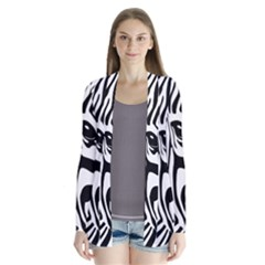 Animal Cute Pattern Art Zebra Cardigans
