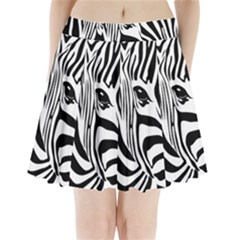 Animal Cute Pattern Art Zebra Pleated Mini Skirt