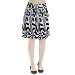 Animal Cute Pattern Art Zebra Pleated Skirt