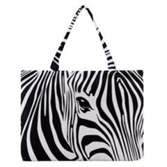 Animal Cute Pattern Art Zebra Medium Zipper Tote Bag