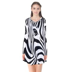 Animal Cute Pattern Art Zebra Flare Dress