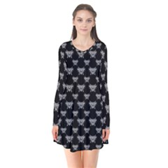 Body Part Monster Illustration Pattern Flare Dress
