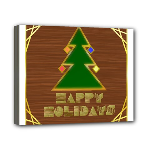 Art Deco Holiday Card Canvas 10  X 8