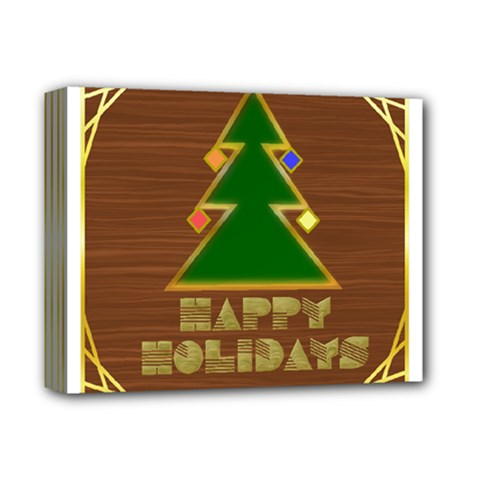 Art Deco Holiday Card Deluxe Canvas 14  X 11