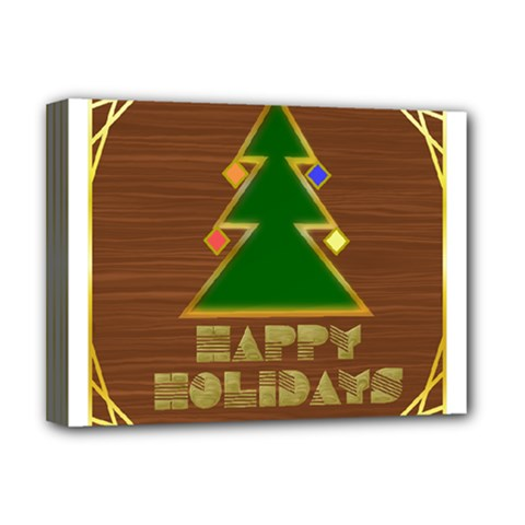 Art Deco Holiday Card Deluxe Canvas 16  X 12