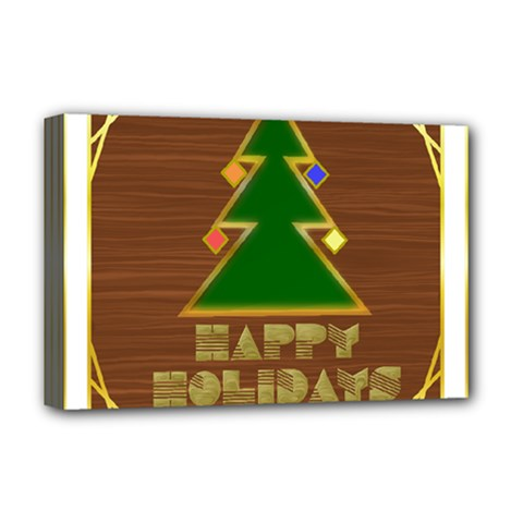 Art Deco Holiday Card Deluxe Canvas 18  X 12