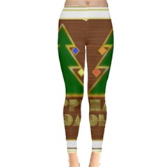 Art Deco Holiday Card Leggings
