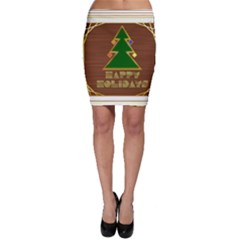 Art Deco Holiday Card Bodycon Skirt