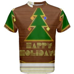 Art Deco Holiday Card Men s Cotton Tee
