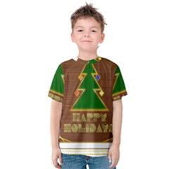 Art Deco Holiday Card Kids  Cotton Tee