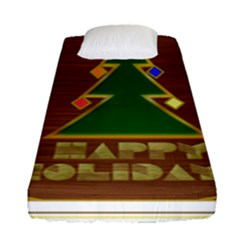 Art Deco Holiday Card Fitted Sheet (single Size)
