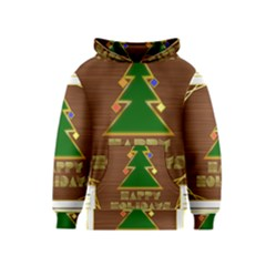 Art Deco Holiday Card Kids  Pullover Hoodie