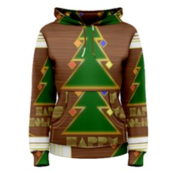 Art Deco Holiday Card Women s Pullover Hoodie