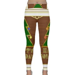 Art Deco Holiday Card Classic Yoga Leggings