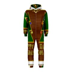Art Deco Holiday Card Hooded Jumpsuit (kids)