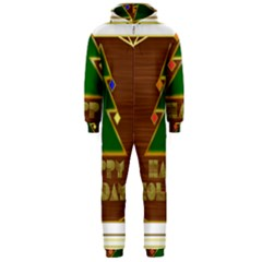 Art Deco Holiday Card Hooded Jumpsuit (men)