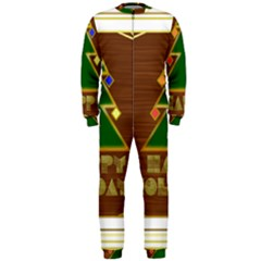 Art Deco Holiday Card Onepiece Jumpsuit (men)