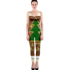 Art Deco Holiday Card Onepiece Catsuit