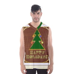 Art Deco Holiday Card Men s Basketball Tank Top