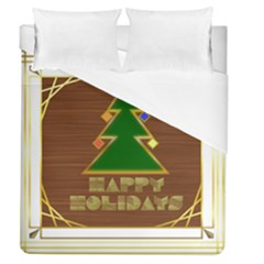 Art Deco Holiday Card Duvet Cover (queen Size)
