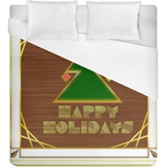 Art Deco Holiday Card Duvet Cover (king Size)