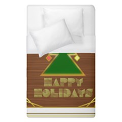 Art Deco Holiday Card Duvet Cover (single Size)