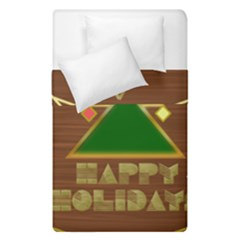Art Deco Holiday Card Duvet Cover Double Side (single Size)