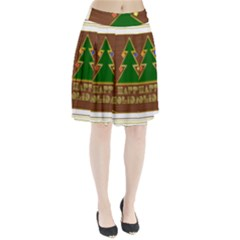 Art Deco Holiday Card Pleated Skirt