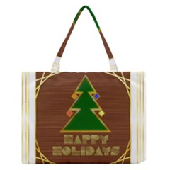 Art Deco Holiday Card Medium Zipper Tote Bag