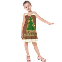 Art Deco Holiday Card Kids  Sleeveless Dress