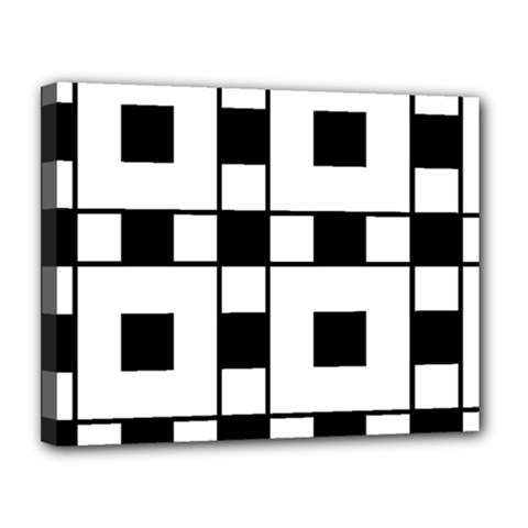 Black And White Pattern Canvas 14  X 11