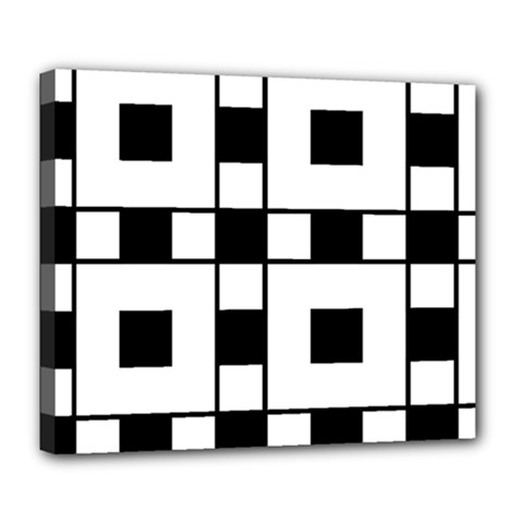 Black And White Pattern Deluxe Canvas 24  X 20