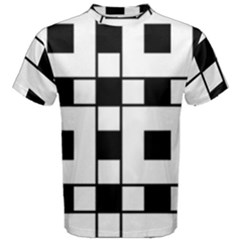 Black And White Pattern Men s Cotton Tee